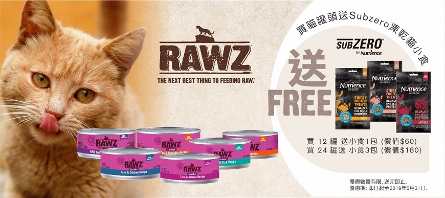 RAWZ Cat Can Promotion at ePet.hk
