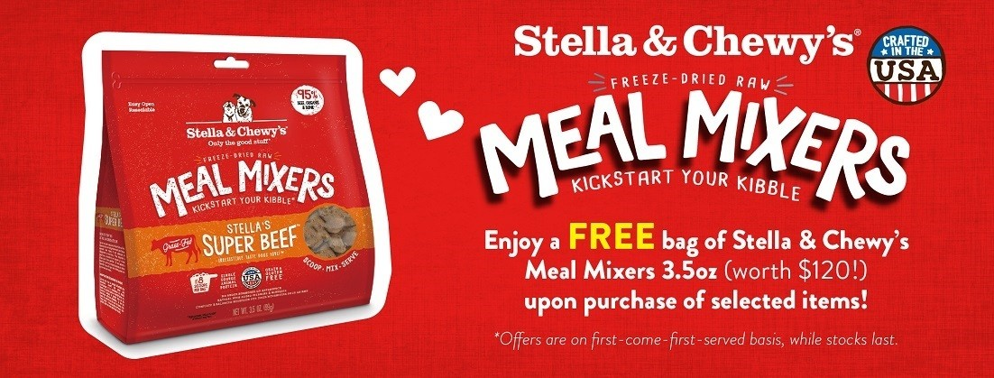 Free Stella & Chewy's Meal Mixers