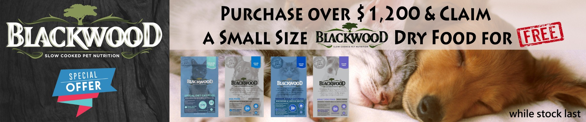 Free Blackwood Cat & Dog Food