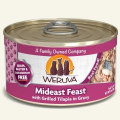 WERUVA Grain Free Cat Canned Food - Mideast Feast with Grilled Tilapia in Gravy ( 3 oz )