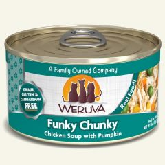 WERUVA Grain Free Cat Canned Food - Funky Chunky Chicken Soup with Pumpkin ( 3 oz )