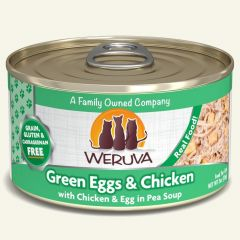 WERUVA Grain Free Cat Canned Food - Green Eggs & Chicken in Pea Soup ( 3 oz )