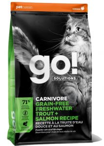 Go! SOLUTIONS Cat Food - Carnivore - Grain Free Trout & Salmon 8lb