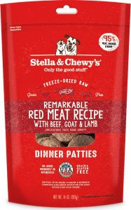 Stella & Chewys Dog Food - Freeze-Dried Dinner Patties - Remarkable Red Meat 5.5oz