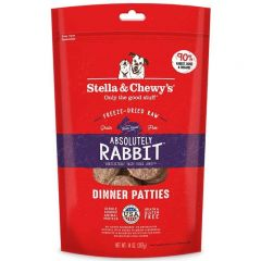 Stella & Chewys Dog Food - Freeze-Dried Dinner Patties - Absolutely Rabbit 14oz