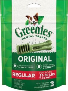 Greenies Canine Dental Chews - Regular 3oz
