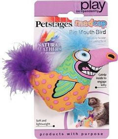 Petstages Cat Toy - Madcap Big Mouth Bird (4 x 2 inch)