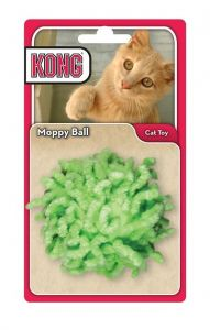 KONG Active Cat Toy - Moppy Ball (Green)