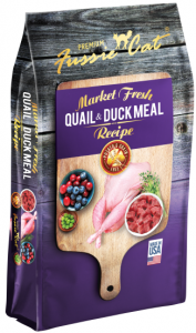 Fussie Cat Dry Food - Market Fresh Quail & Duck Meal 4lb