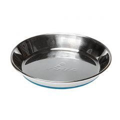 ROGZ Stainless Steel Non-Slip Cat Bowl - Blue