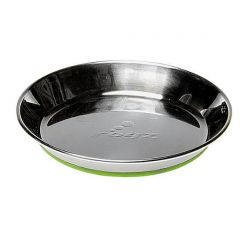 ROGZ Stainless Steel Non-Slip Cat Bowl - Green