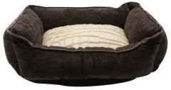 Catit Style Cat Rectangular Reversible Cuddle Bed - Brown Suede