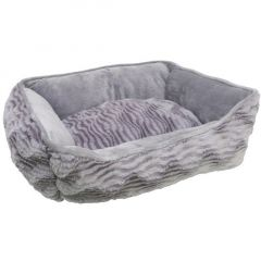 Catit Style Cat Rectangular Reversible Cuddle Bed - Grey Suede