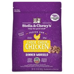 Stella & Chewys Cat Food - Frozen Raw Dinner Morsels - Chick Chick Chicken 3lb