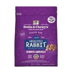 Stella & Chewys Cat Food - Frozen Raw Dinner Morsels - Absolutely Rabbit 1lb