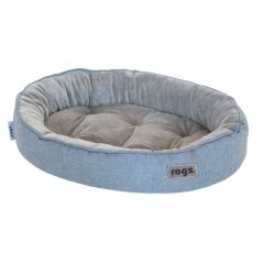ROGZ Cuddle Oval Podz Pet Bed - Small - Grey