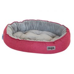 ROGZ Cuddle Oval Podz Pet Bed - Small - Red