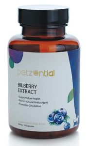 Petzential Bilberry Extract Supplement for Cat & Dog (90 capsules)