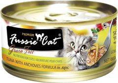 Fussie Cat Black Label Premium Canned Food - Tuna with Anchovy (80g)