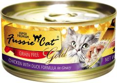 Fussie Cat Gold Label Premium Canned Food - Chicken with Duck (80g)