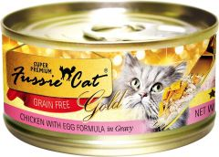 Fussie Cat Gold Label Premium Canned Food - Chicken with Egg (80g)