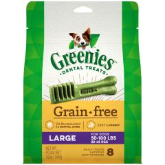 Greenies Canine Dental Chews - Grain Free Large 12oz