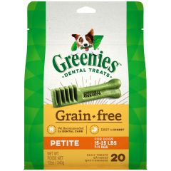 Greenies Canine Dental Chews - Grain Free Petite 12oz