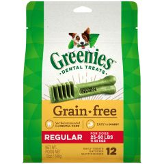 Greenies Canine Dental Chews - Grain Free Regular 12oz