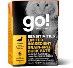 Go! SOLUTIONS Cat Pouch - Sensitivities - Limited Ingredient Grain Free - Duck Pate 182g