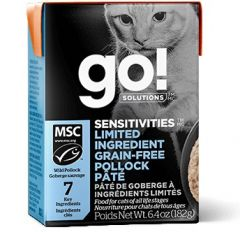 Go! SOLUTIONS Cat Pouch - Sensitivities - Limited Ingredient Grain Free - Pollock Pate 182g