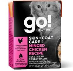 Go! SOLUTIONS Cat Pouch - Skin & Coat Care - Minced Chicken 182g
