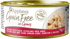 Applaws Cat Canned Food - Grain Free - Chicken with Duck in Gravy 70g