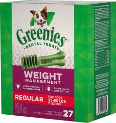 Greenies Canine Weight Management Dental Chews - Regular 27oz