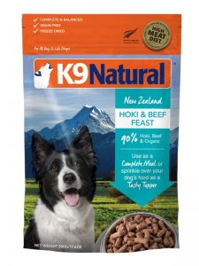 K9 Natural Freeze Dried Dog Food - Hoki & Beef Feast 500g