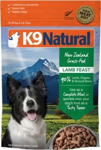K9 Natural Freeze Dried Dog Food - Lamb Feast 500g
