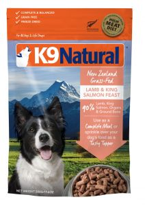 K9 Natural Freeze Dried Dog Food - Lamb & King Salmon Feast 500g