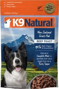 K9 Natural Freeze Dried Dog Food - Beef Feast 500g