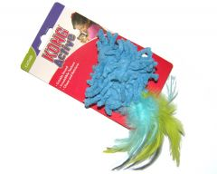 KONG Active Catnip Cat Toy - Moppy with Feathers (Blue)
