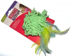 KONG Active Catnip Cat Toy - Moppy with Feathers (Green)
