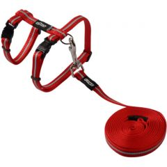 ROGZ AlleyCat Cat Harness & Lead - Red