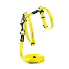 ROGZ AlleyCat Cat Harness & Lead - Yellow