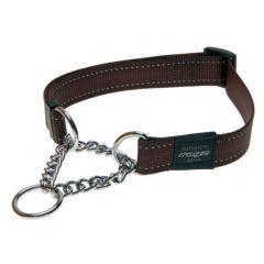 ROGZ Obedience Half-Check Collar - Brown