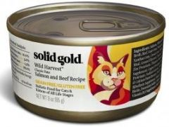 Solid Gold Grain Free Cat Canned Food - Wild Harvest - Salmon & Beef 3oz