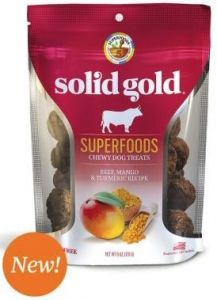 Solid Gold Superfoods Chewy Dog Treats - Mango 6oz