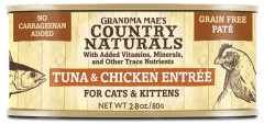 Country Naturals Cat Canned Food - Grain Free - Tuna and Chicken Pate 2.8oz