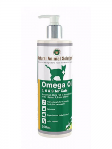 Natural Animal Solutions (NAS) Omega 3, 6, 9 Oil for Cats 200ml