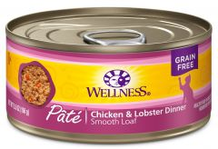 wellness complete health cat canned chicken lobster