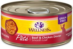 Wellness Complete Grain Free Cat Canned Food - Beef & Chicken 3oz