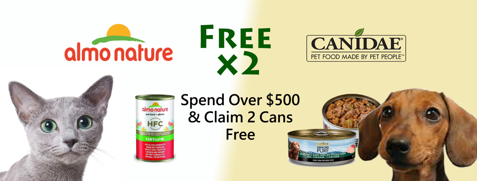 Spend Over $500 & Claim 2 Cans Free