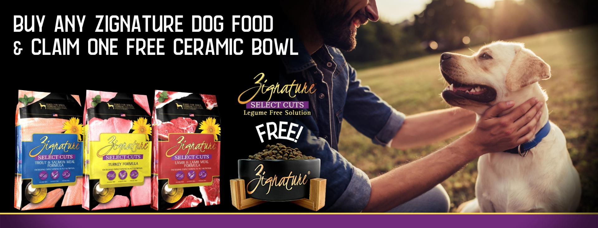 Buy any Zignature Dog Food & Claim a Free Ceramic Bowl